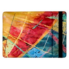 Painting Watercolor Wax Stains Red Samsung Galaxy Tab Pro 12 2  Flip Case