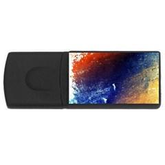 Colorful Pattern Color Course Rectangular Usb Flash Drive