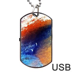 Colorful Pattern Color Course Dog Tag Usb Flash (two Sides)
