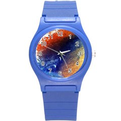 Colorful Pattern Color Course Round Plastic Sport Watch (s)