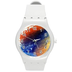 Colorful Pattern Color Course Round Plastic Sport Watch (m)