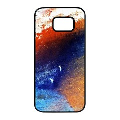 Colorful Pattern Color Course Samsung Galaxy S7 Edge Black Seamless Case