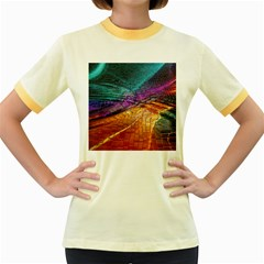 Graphics Imagination The Background Women s Fitted Ringer T Shirts