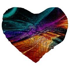 Graphics Imagination The Background Large 19  Premium Flano Heart Shape Cushions