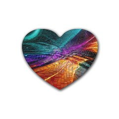 Graphics Imagination The Background Rubber Coaster (heart)