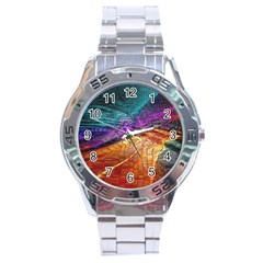 Graphics Imagination The Background Stainless Steel Analogue Watch