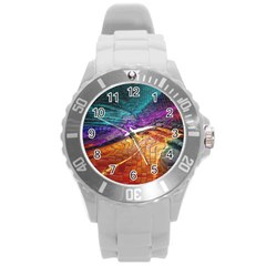 Graphics Imagination The Background Round Plastic Sport Watch (l) by BangZart
