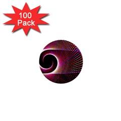 Grid Bent Vibration Ease Bend 1  Mini Buttons (100 Pack)