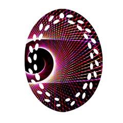 Grid Bent Vibration Ease Bend Oval Filigree Ornament (two Sides)