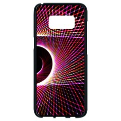 Grid Bent Vibration Ease Bend Samsung Galaxy S8 Black Seamless Case