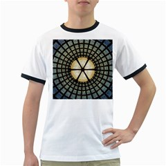 Stained Glass Colorful Glass Ringer T Shirts