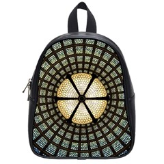 Stained Glass Colorful Glass School Bag (small)