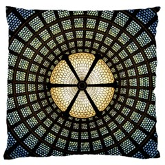 Stained Glass Colorful Glass Standard Flano Cushion Case (one Side) by BangZart
