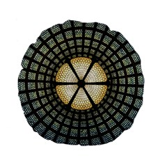 Stained Glass Colorful Glass Standard 15  Premium Flano Round Cushions