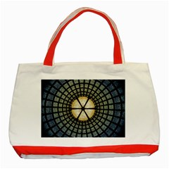 Stained Glass Colorful Glass Classic Tote Bag (red)