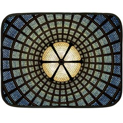 Stained Glass Colorful Glass Double Sided Fleece Blanket (mini)  by BangZart