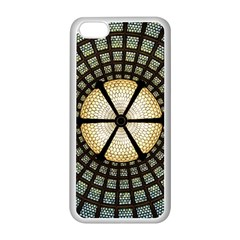 Stained Glass Colorful Glass Apple Iphone 5c Seamless Case (white)