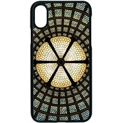 Stained Glass Colorful Glass Apple Iphone X Seamless Case (black)