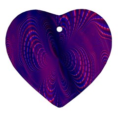 Abstract Fantastic Fractal Gradient Ornament (heart)