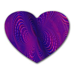 Abstract Fantastic Fractal Gradient Heart Mousepads