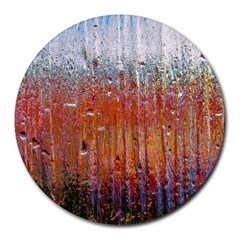 Glass Colorful Abstract Background Round Mousepads