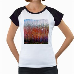 Glass Colorful Abstract Background Women s Cap Sleeve T