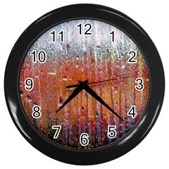 Glass Colorful Abstract Background Wall Clocks (black) by BangZart