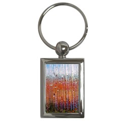 Glass Colorful Abstract Background Key Chains (rectangle)  by BangZart