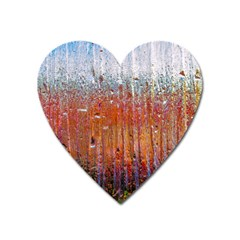 Glass Colorful Abstract Background Heart Magnet