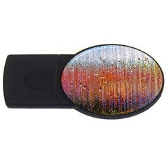 Glass Colorful Abstract Background Usb Flash Drive Oval (4 Gb)