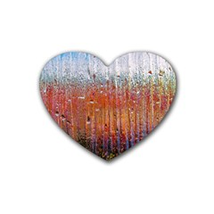 Glass Colorful Abstract Background Rubber Coaster (heart)