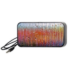 Glass Colorful Abstract Background Portable Speaker