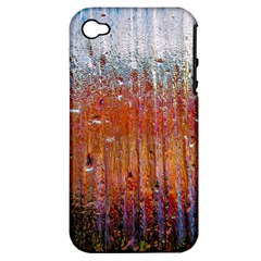 Glass Colorful Abstract Background Apple Iphone 4/4s Hardshell Case (pc+silicone)