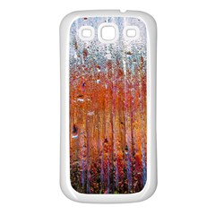 Glass Colorful Abstract Background Samsung Galaxy S3 Back Case (white)