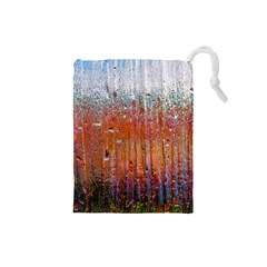 Glass Colorful Abstract Background Drawstring Pouches (small)