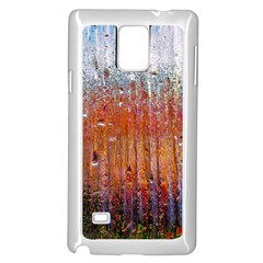 Glass Colorful Abstract Background Samsung Galaxy Note 4 Case (white)
