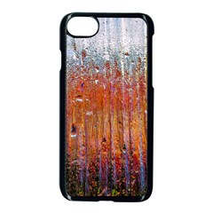 Glass Colorful Abstract Background Apple Iphone 8 Seamless Case (black)