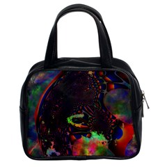 The Fourth Dimension Fractal Classic Handbags (2 Sides) by BangZart