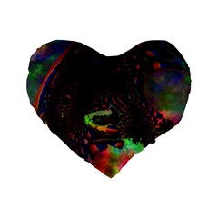The Fourth Dimension Fractal Standard 16  Premium Heart Shape Cushions