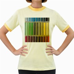 Pastels Cretaceous About Color Women s Fitted Ringer T Shirts
