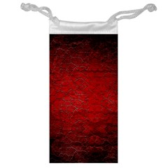 Red Grunge Texture Black Gradient Jewelry Bag