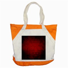 Red Grunge Texture Black Gradient Accent Tote Bag