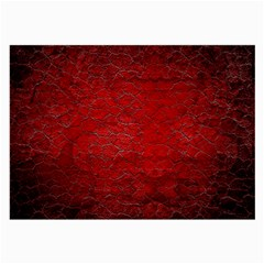 Red Grunge Texture Black Gradient Large Glasses Cloth (2 Side)