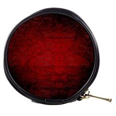 Red Grunge Texture Black Gradient Mini Makeup Bags