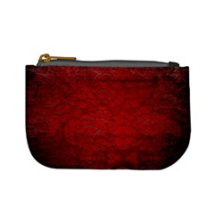Red Grunge Texture Black Gradient Mini Coin Purses