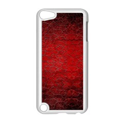Red Grunge Texture Black Gradient Apple Ipod Touch 5 Case (white)
