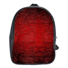 Red Grunge Texture Black Gradient School Bag (xl) by BangZart