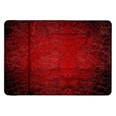 Red Grunge Texture Black Gradient Samsung Galaxy Tab 8 9  P7300 Flip Case
