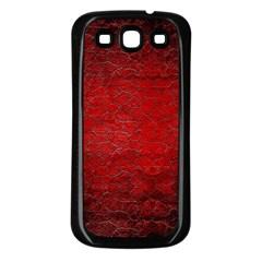 Red Grunge Texture Black Gradient Samsung Galaxy S3 Back Case (black)