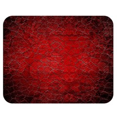 Red Grunge Texture Black Gradient Double Sided Flano Blanket (medium)